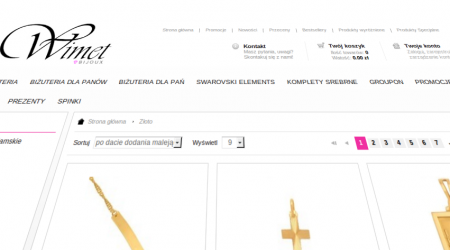 Online jewellery shop integration